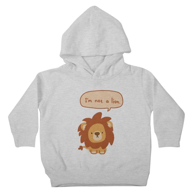 Lyin' Lion Kids Toddler Pullover Hoody by oneweirddude's Artist Shop
