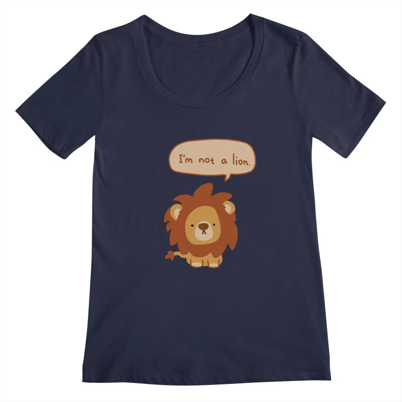 Lyin' Lion Women's Regular Scoop Neck by oneweirddude's Artist Shop