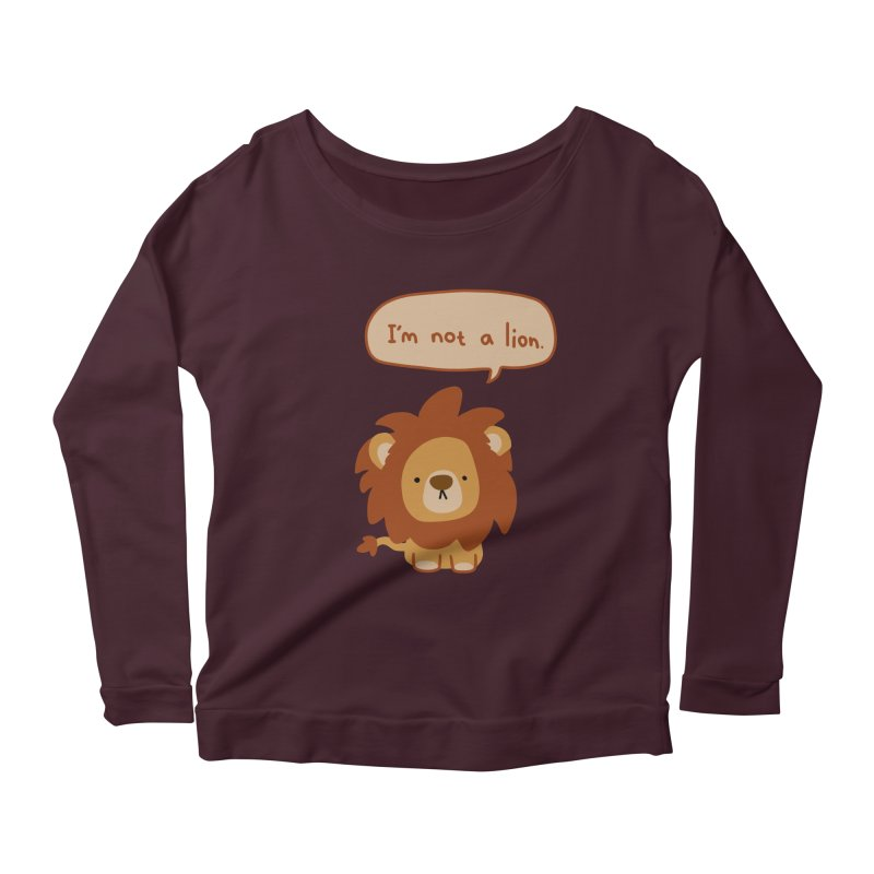 Lyin' Lion Women's Scoop Neck Longsleeve T-Shirt by oneweirddude's Artist Shop
