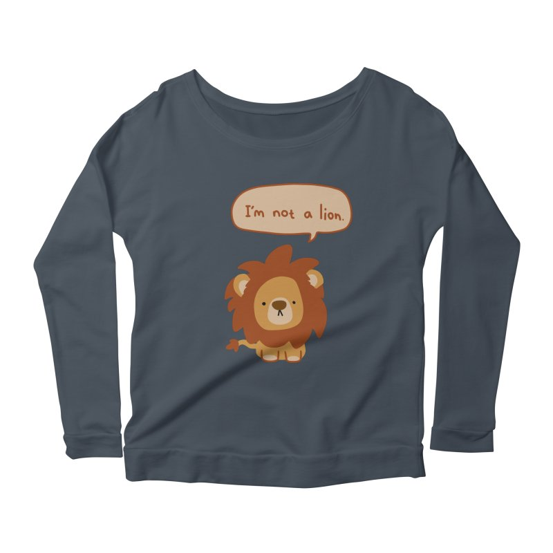 Lyin' Lion Women's Scoop Neck Longsleeve T-Shirt by oneweirddude's Artist Shop