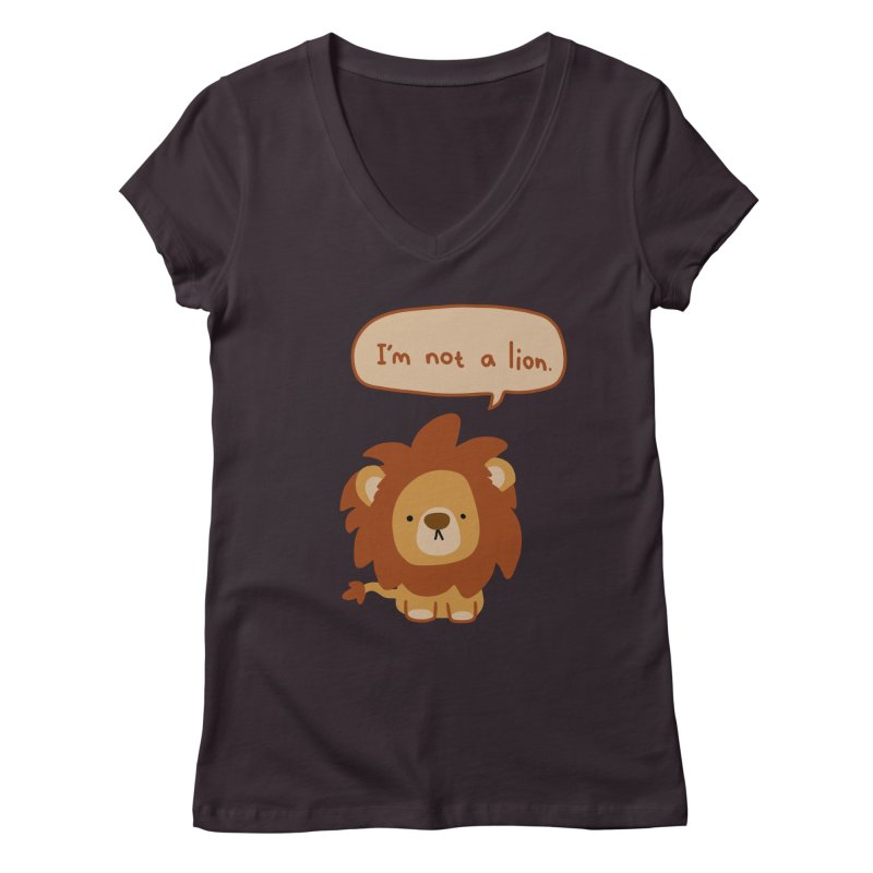 Lyin' Lion Women's V-Neck by oneweirddude's Artist Shop