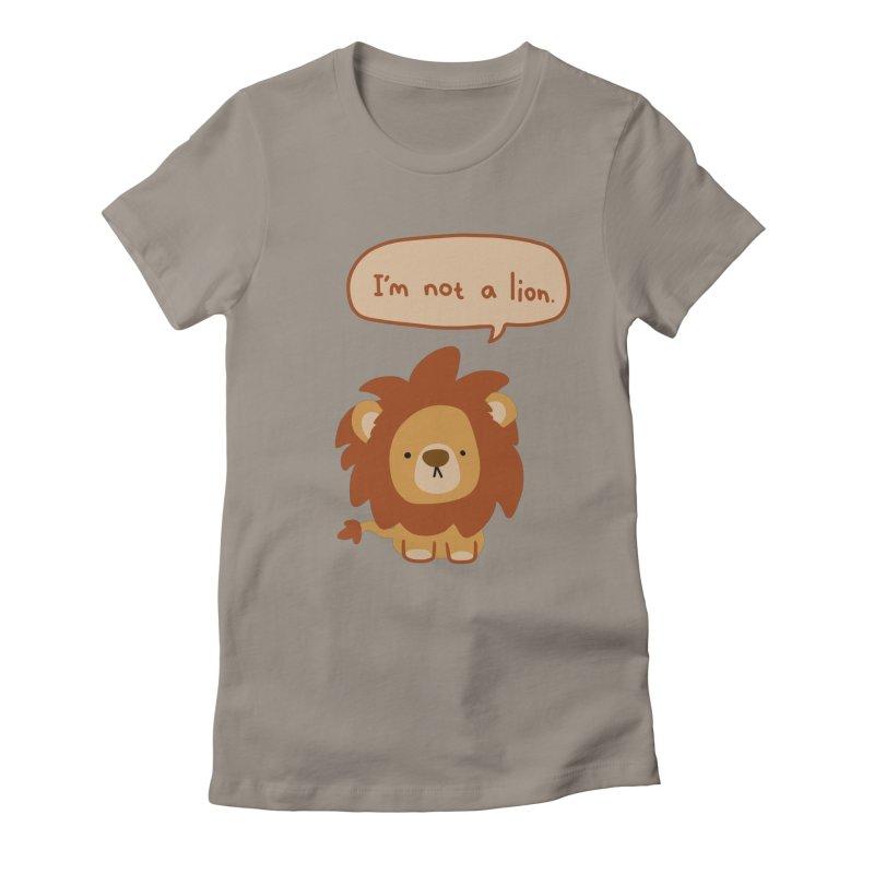Lyin' Lion Women's Fitted T-Shirt by oneweirddude's Artist Shop