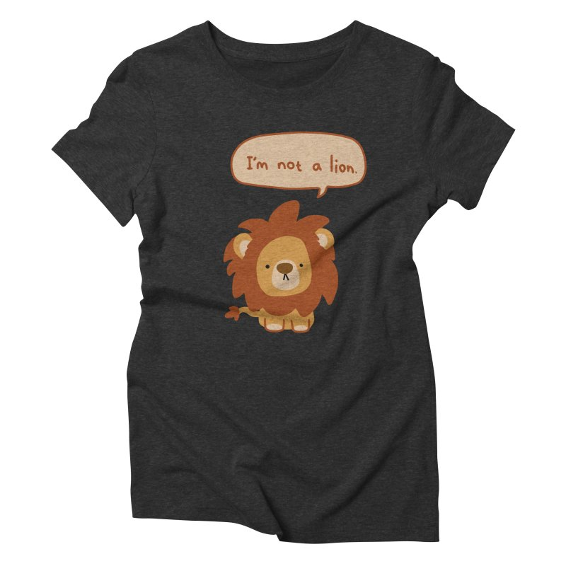 Lyin' Lion Women's Triblend T-shirt by oneweirddude's Artist Shop