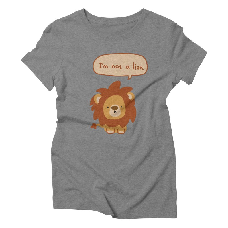 Lyin' Lion Women's Triblend T-shirt by oneweirddude's Artist Shop