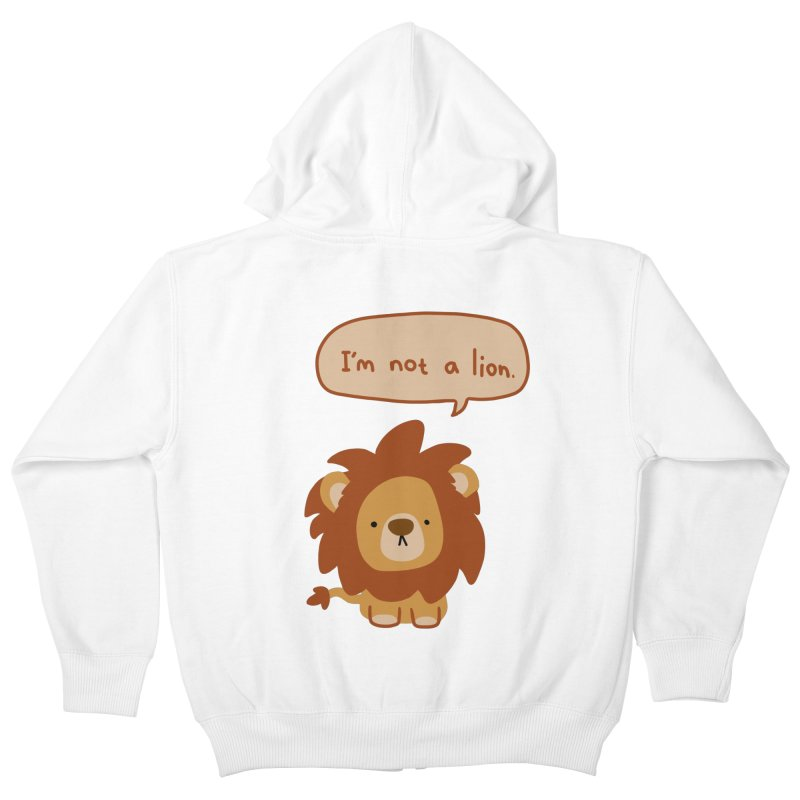 Lyin' Lion Kids Zip-Up Hoody by oneweirddude's Artist Shop
