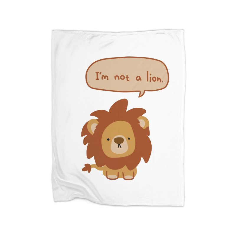 Lyin' Lion Home Fleece Blanket Blanket by oneweirddude's Artist Shop