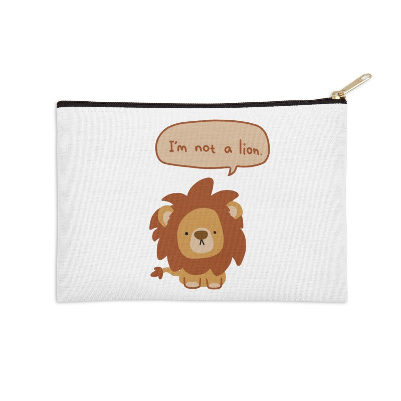 Lyin' Lion Accessories Zip Pouch by oneweirddude's Artist Shop