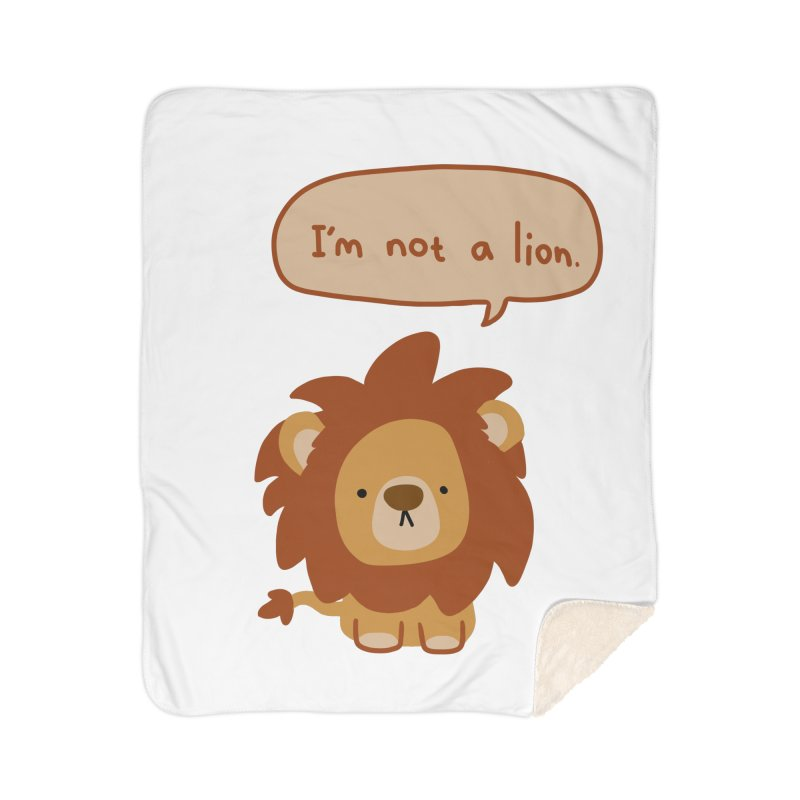 Lyin' Lion Home Sherpa Blanket Blanket by oneweirddude's Artist Shop