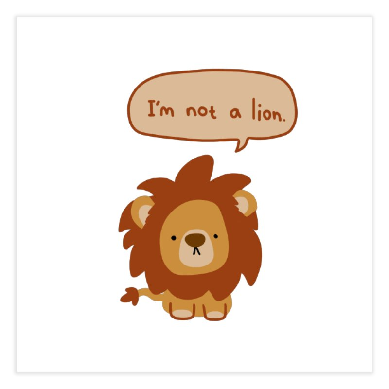 Lyin' Lion Home Fine Art Print by oneweirddude's Artist Shop