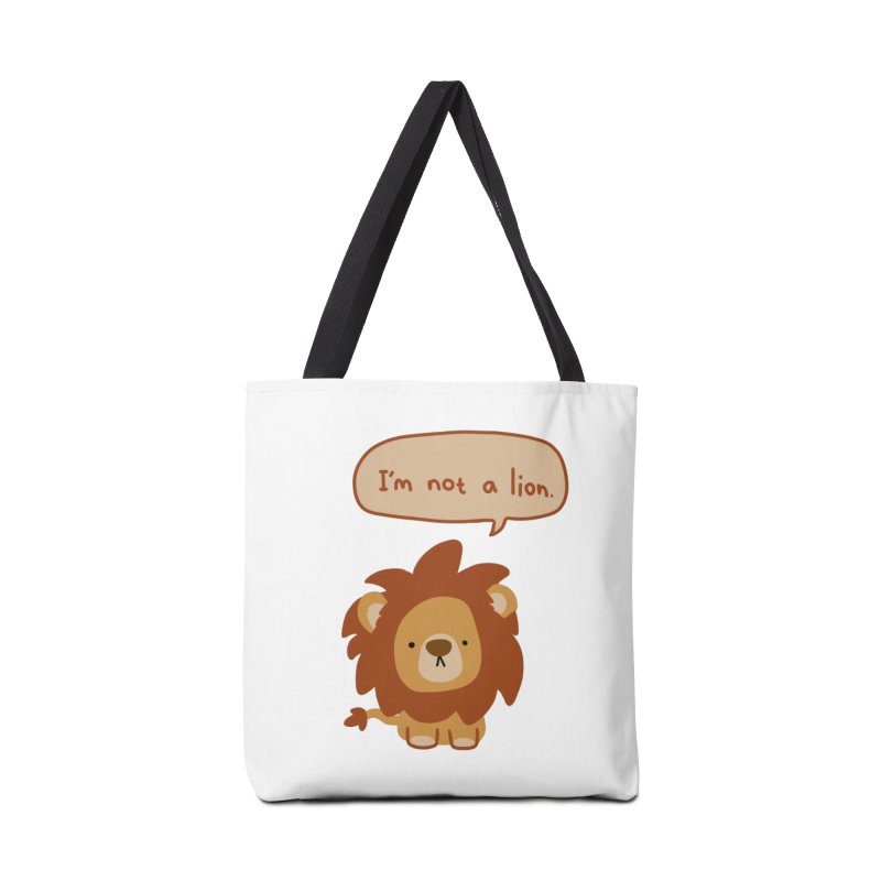 Lyin' Lion Accessories Tote Bag Bag by oneweirddude's Artist Shop