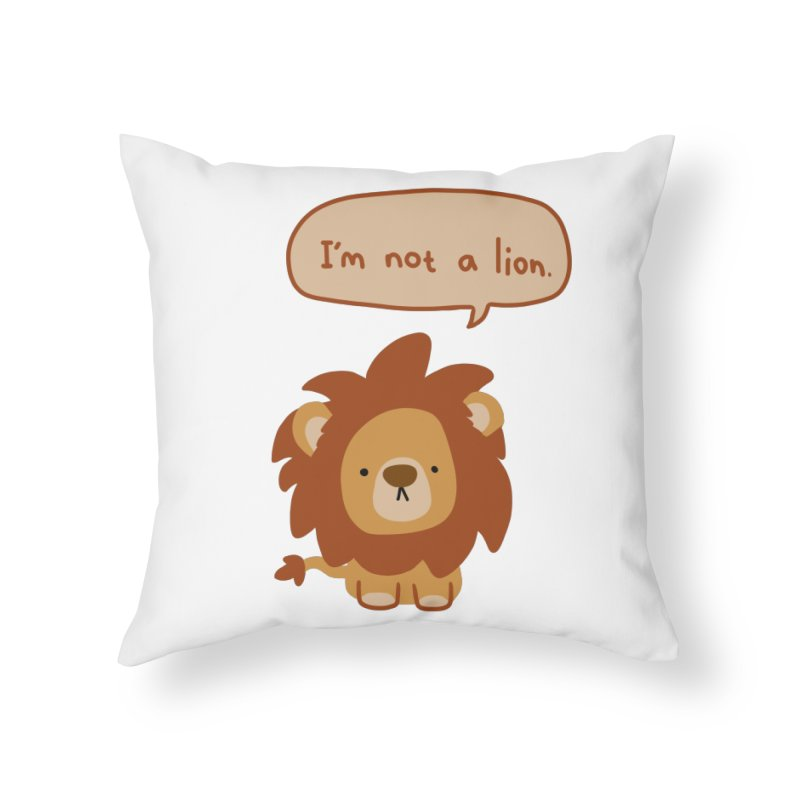 Lyin' Lion Home Throw Pillow by oneweirddude's Artist Shop