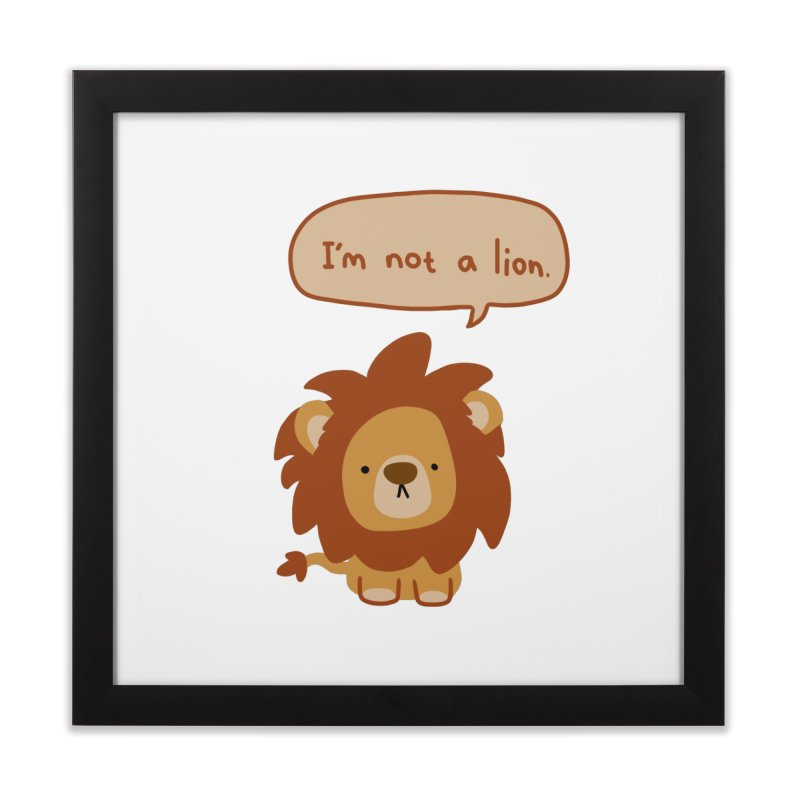 Lyin' Lion Home Framed Fine Art Print by oneweirddude's Artist Shop