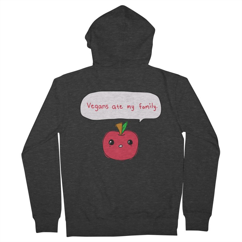 Vegans Ate My Family Men's French Terry Zip-Up Hoody by oneweirddude's Artist Shop