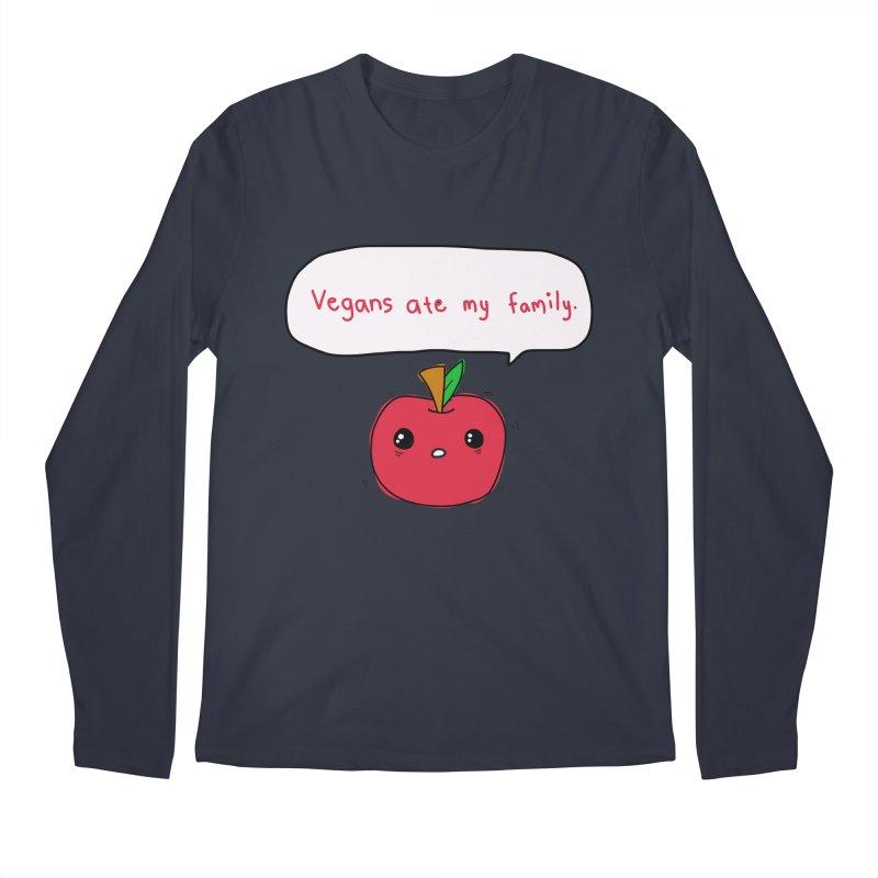 Vegans Ate My Family Men's Regular Longsleeve T-Shirt by oneweirddude's Artist Shop