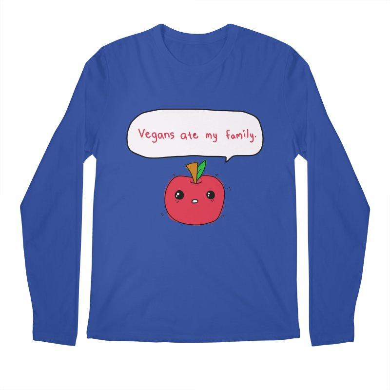 Vegans Ate My Family Men's Longsleeve T-Shirt by oneweirddude's Artist Shop