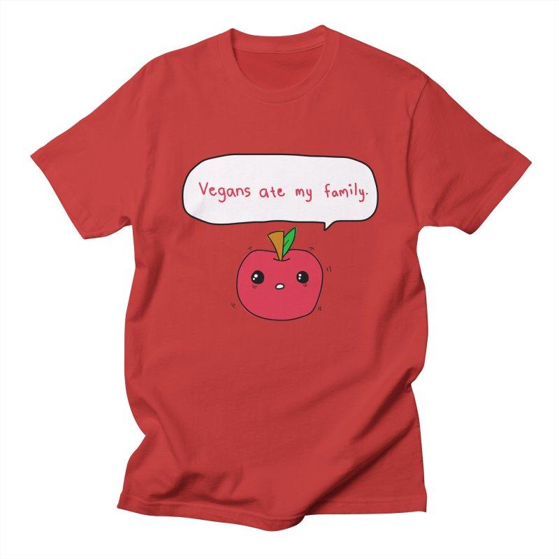 Vegans Ate My Family Women's Regular Unisex T-Shirt by oneweirddude's Artist Shop