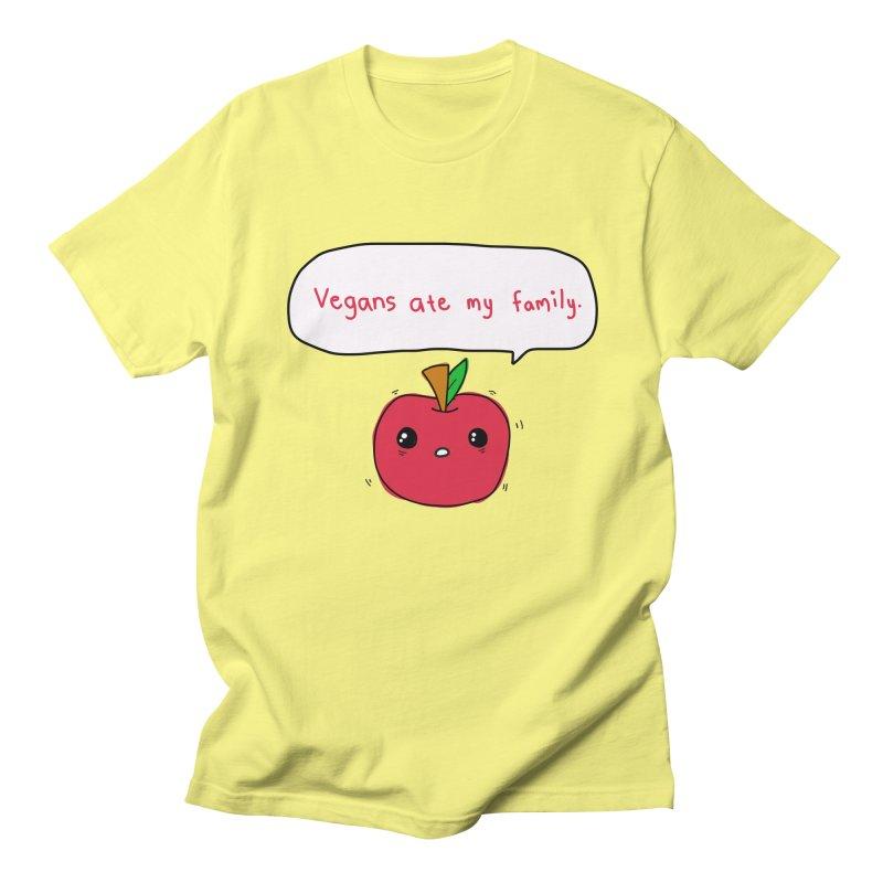 Vegans Ate My Family Men's T-Shirt by oneweirddude's Artist Shop