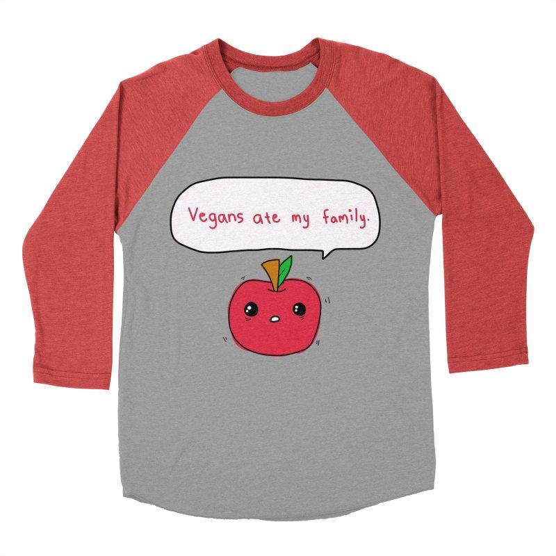 Vegans Ate My Family Women's Baseball Triblend T-Shirt by oneweirddude's Artist Shop