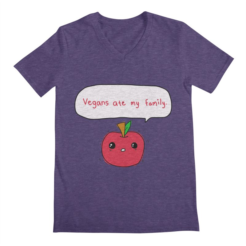 Vegans Ate My Family Men's V-Neck by oneweirddude's Artist Shop
