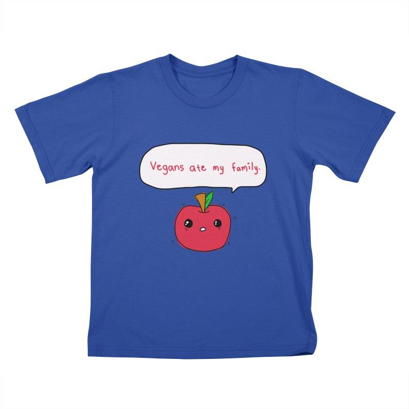 Vegans Ate My Family Kids T-Shirt by oneweirddude's Artist Shop