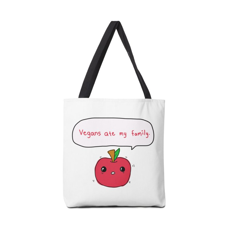 Vegans Ate My Family Accessories Tote Bag Bag by oneweirddude's Artist Shop