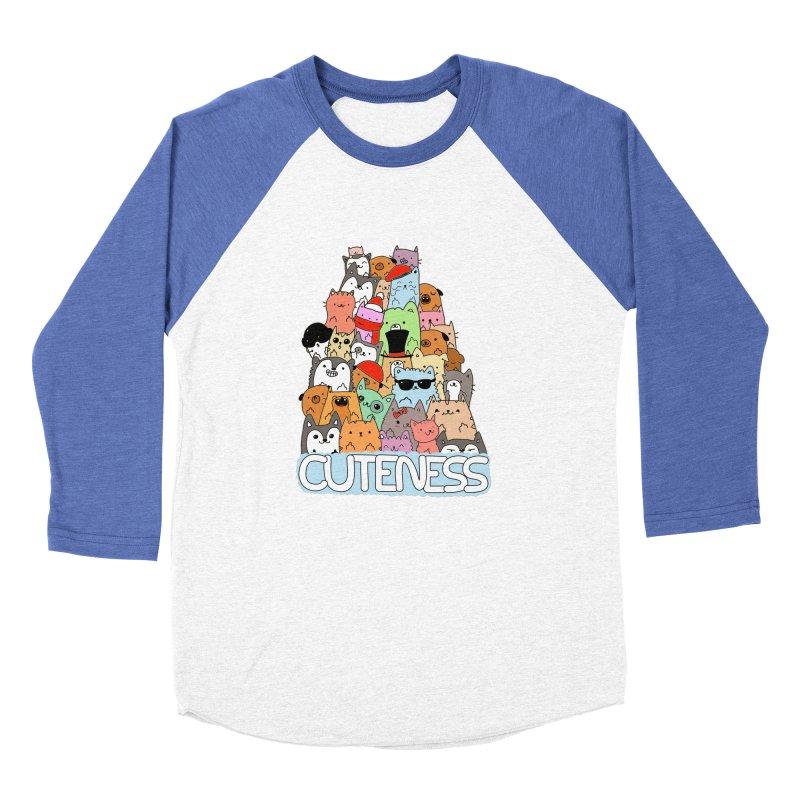 Cuteness Women's Baseball Triblend Longsleeve T-Shirt by oneweirddude's Artist Shop