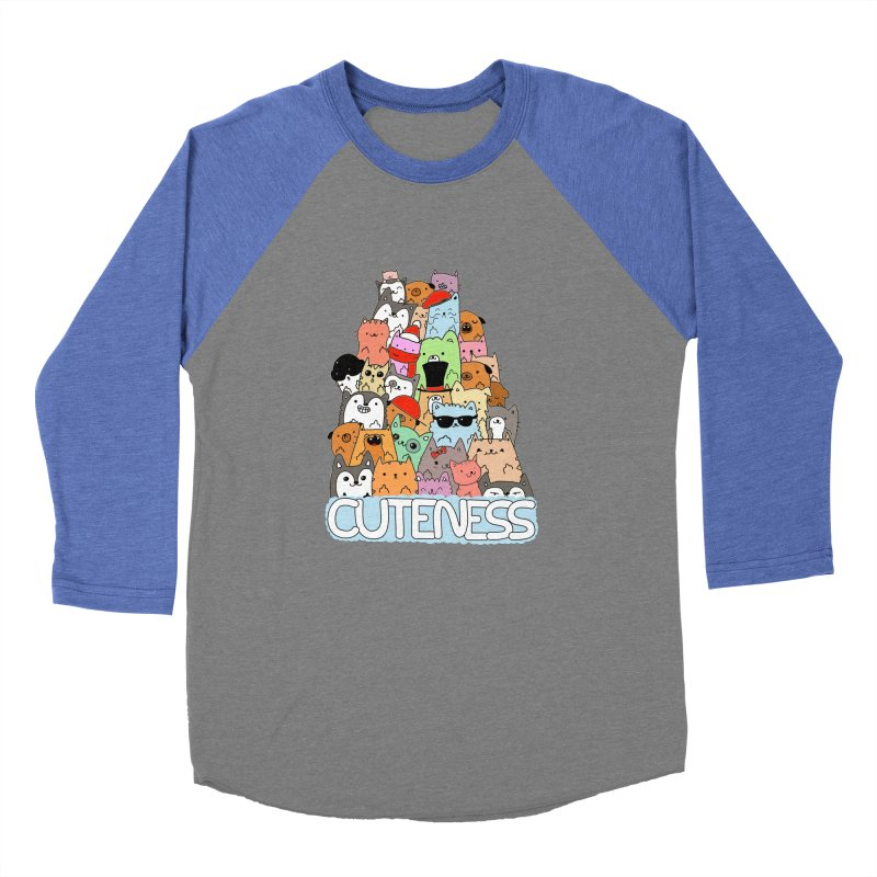 Cuteness Men's Baseball Triblend Longsleeve T-Shirt by oneweirddude's Artist Shop