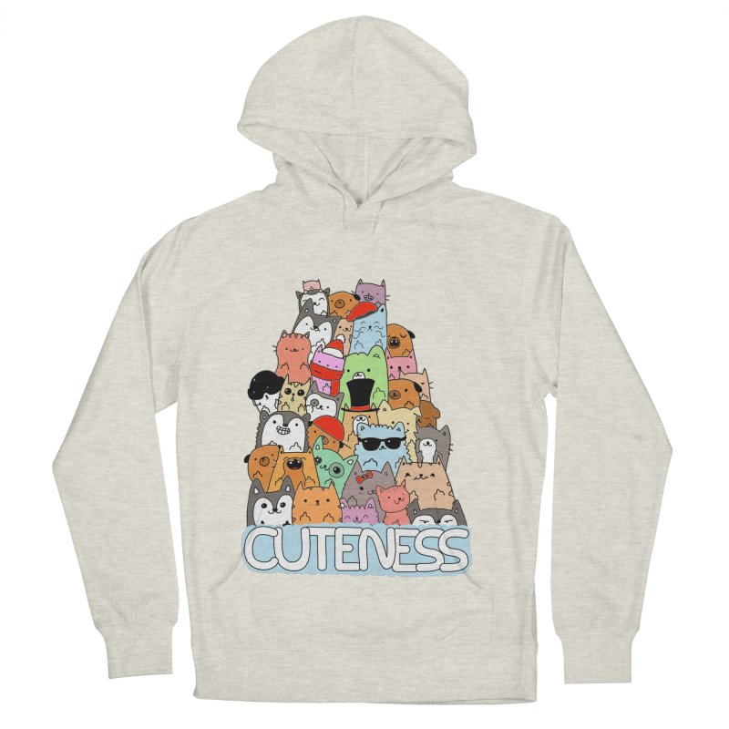 Cuteness Women's French Terry Pullover Hoody by oneweirddude's Artist Shop