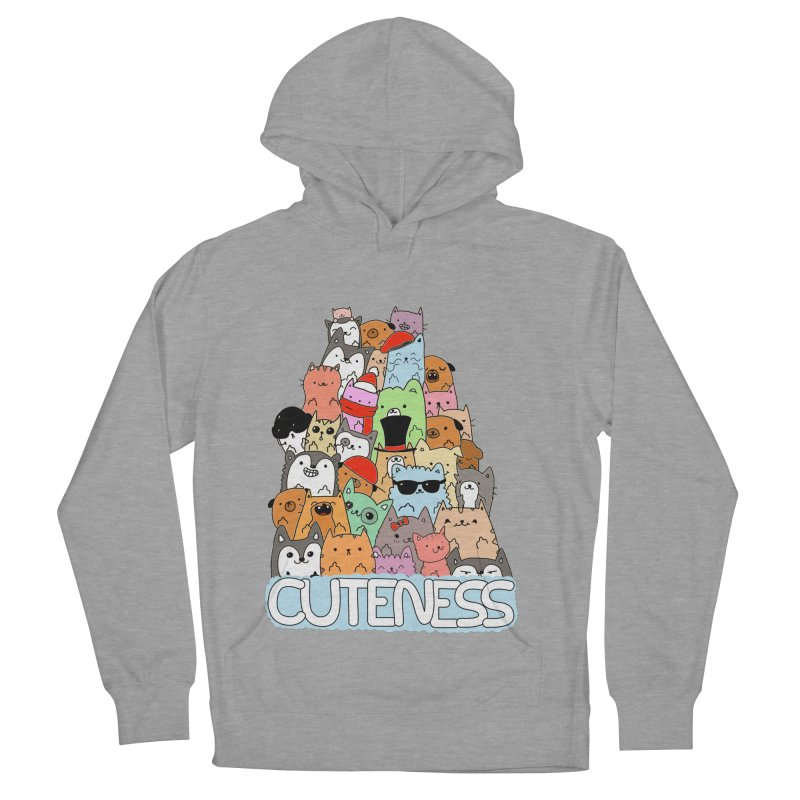 Cuteness Men's French Terry Pullover Hoody by oneweirddude's Artist Shop
