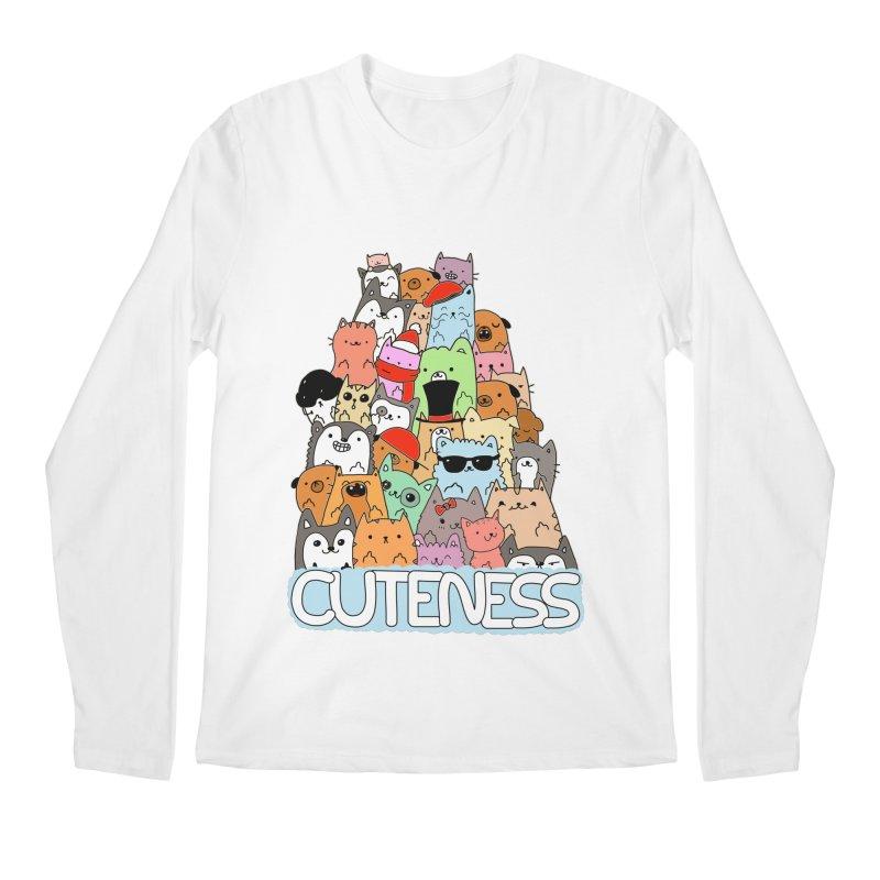 Cuteness Men's Regular Longsleeve T-Shirt by oneweirddude's Artist Shop