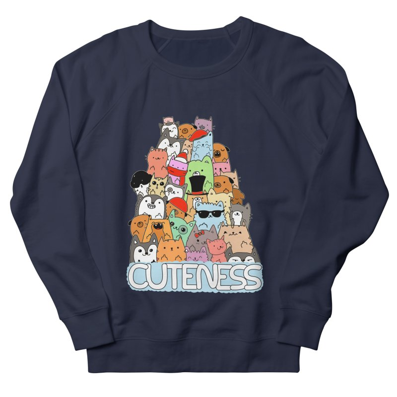 Cuteness Women's French Terry Sweatshirt by oneweirddude's Artist Shop
