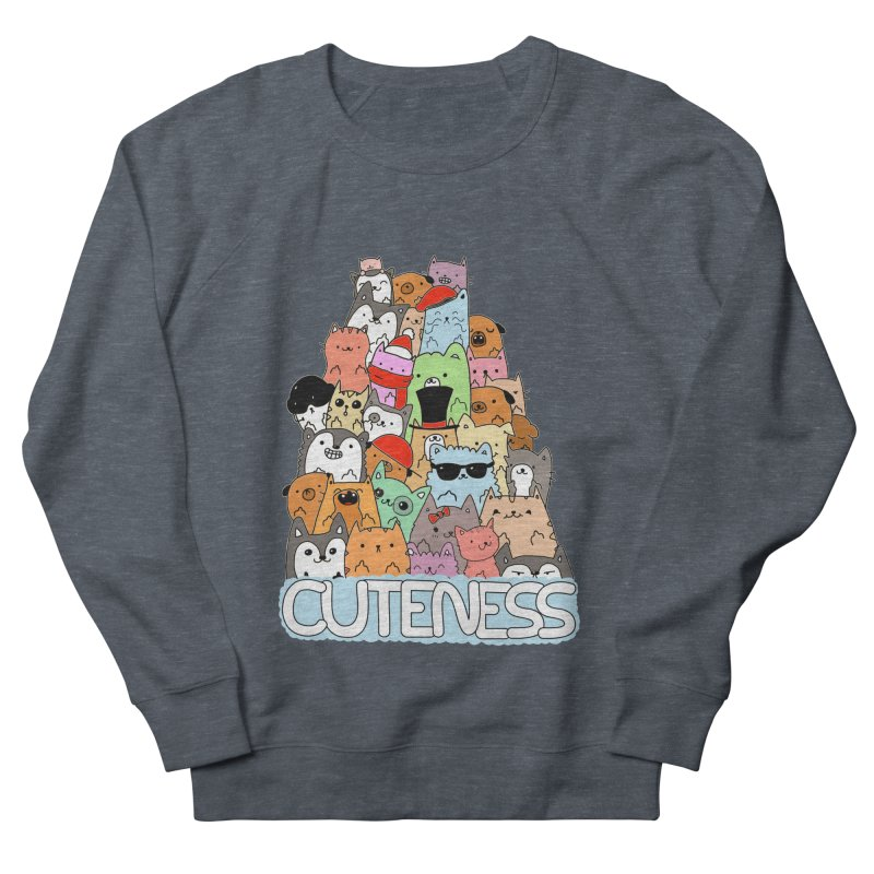 Cuteness Men's French Terry Sweatshirt by oneweirddude's Artist Shop
