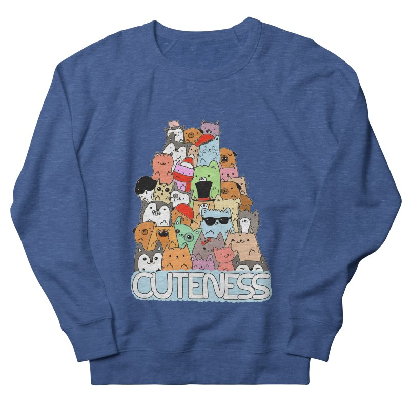 Cuteness Men's French Terry Sweatshirt by oneweirddude's Artist Shop