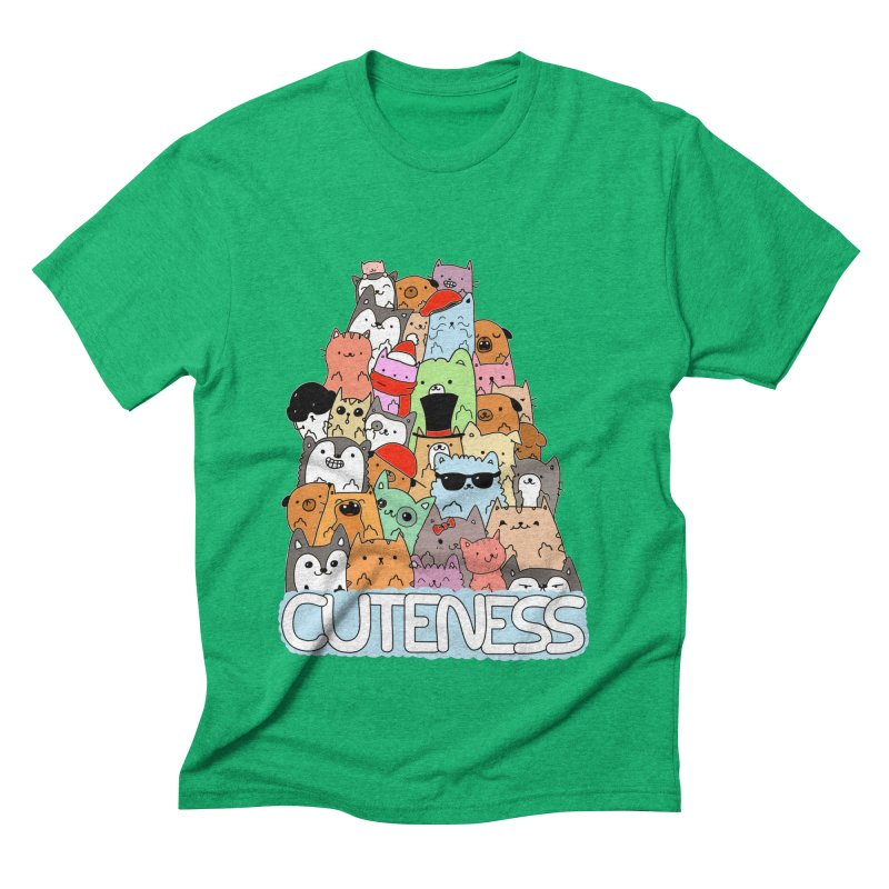 Cuteness Men's Triblend T-Shirt by oneweirddude's Artist Shop