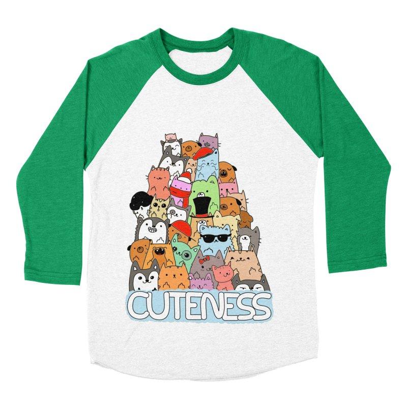 Cuteness Women's Baseball Triblend T-Shirt by oneweirddude's Artist Shop