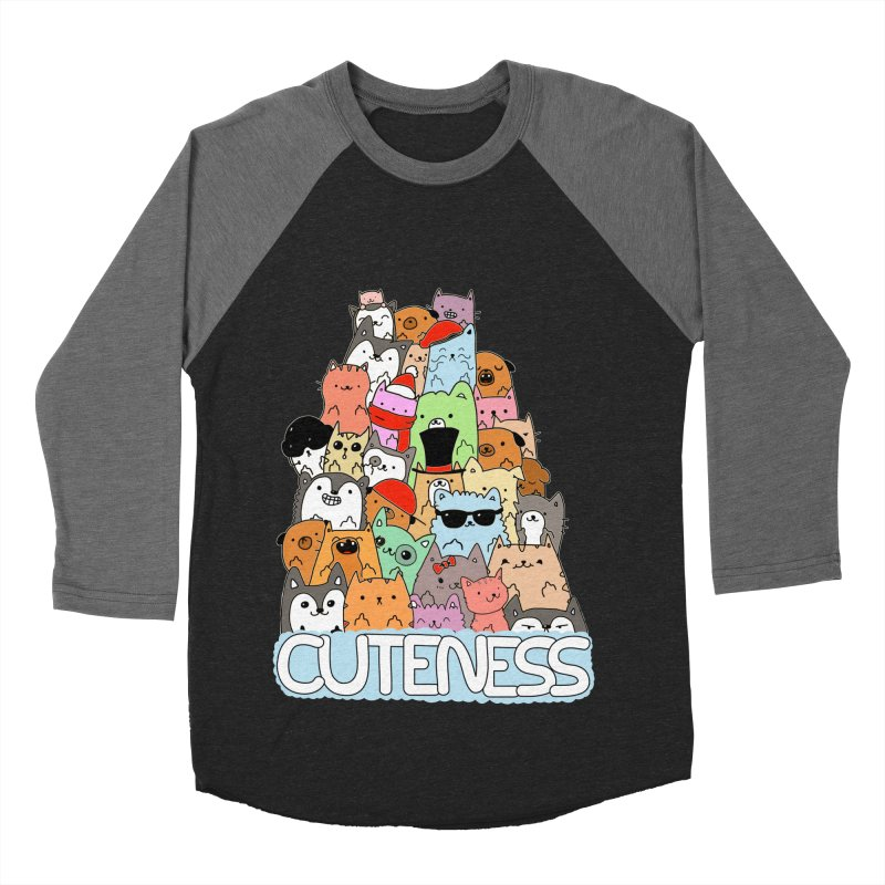 Cuteness Women's Baseball Triblend Longsleeve T-Shirt by oneweirddude's Artist Shop