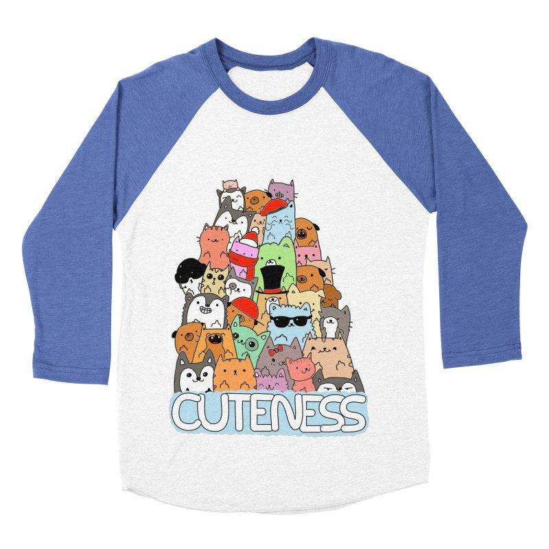 Cuteness Men's Baseball Triblend Longsleeve T-Shirt by oneweirddude's Artist Shop