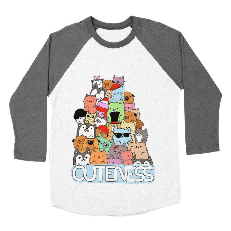 Cuteness Men's Baseball Triblend T-Shirt by oneweirddude's Artist Shop