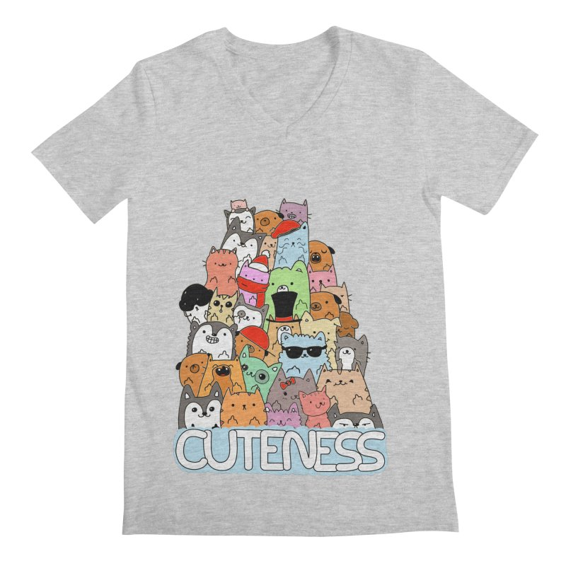 Cuteness Men's V-Neck by oneweirddude's Artist Shop