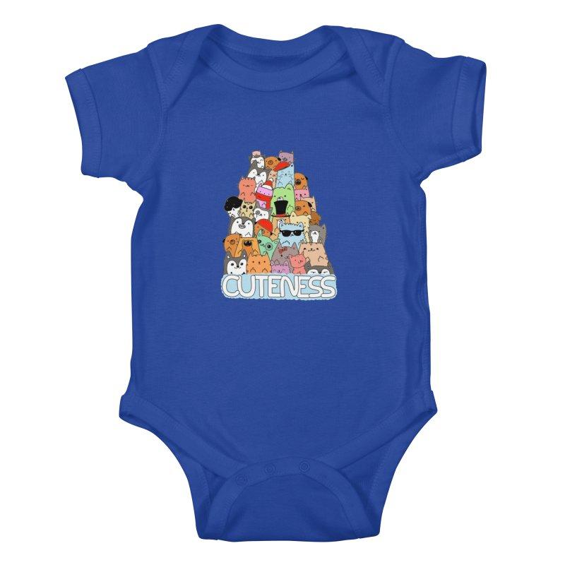 Cuteness Kids Baby Bodysuit by oneweirddude's Artist Shop