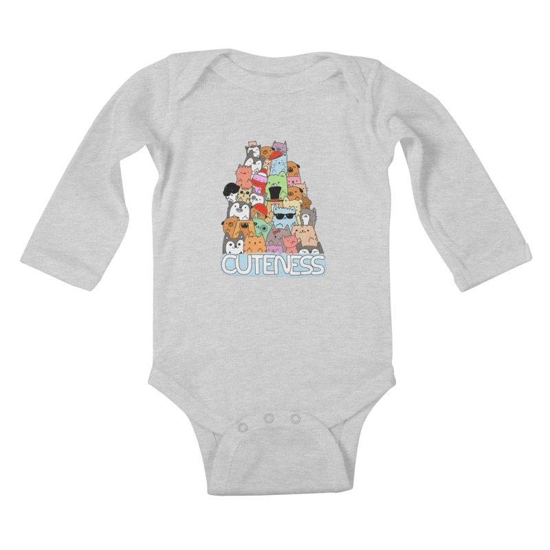 Cuteness Kids Baby Longsleeve Bodysuit by oneweirddude's Artist Shop