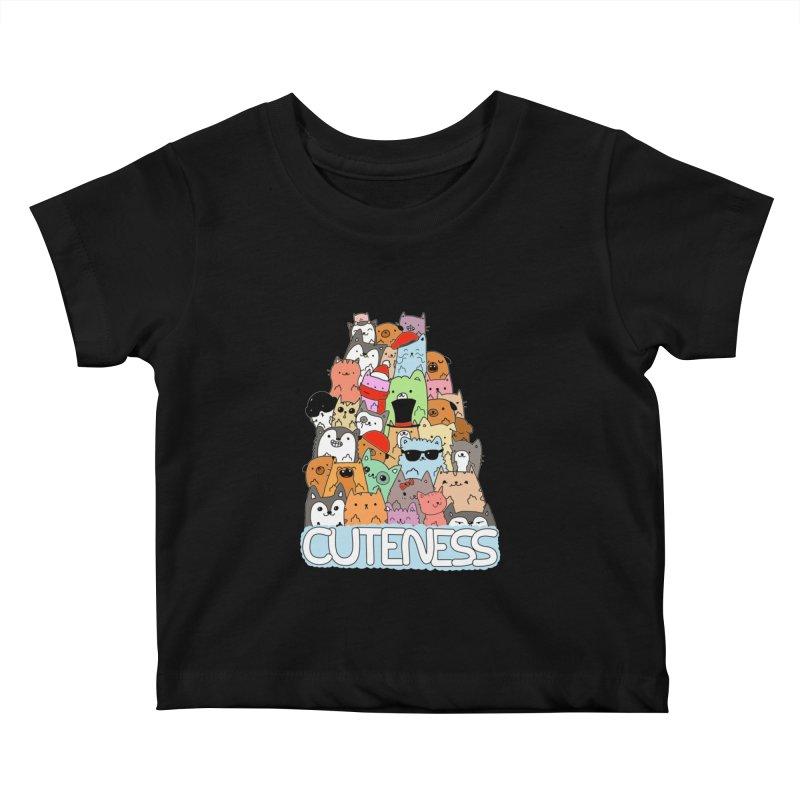 Cuteness Kids Baby T-Shirt by oneweirddude's Artist Shop
