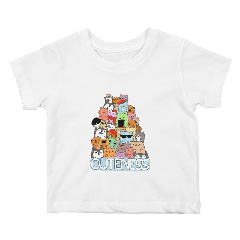 Cuteness Kids Baby T-Shirt by oneweirddude's Artist Shop