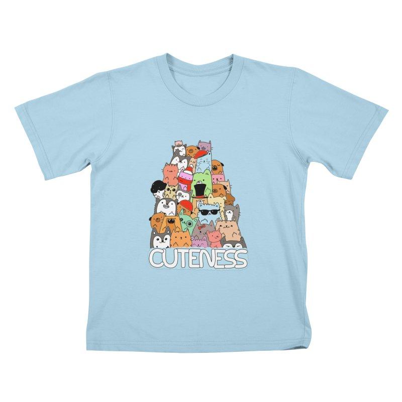 Cuteness Kids T-Shirt by oneweirddude's Artist Shop