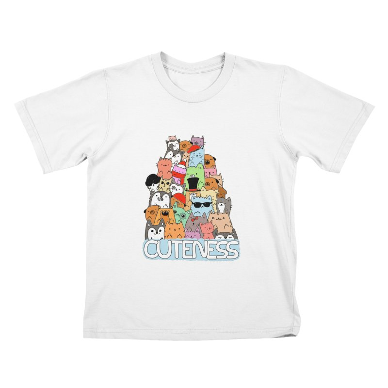 Cuteness Kids T-Shirt by oneweirddude's Artist Shop