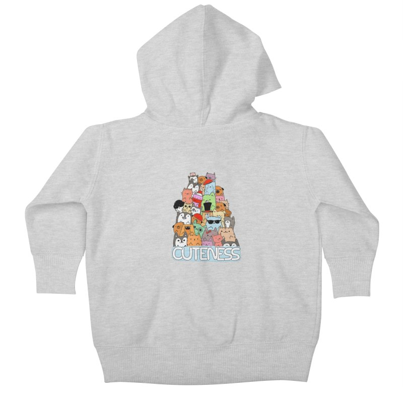 Cuteness Kids Baby Zip-Up Hoody by oneweirddude's Artist Shop
