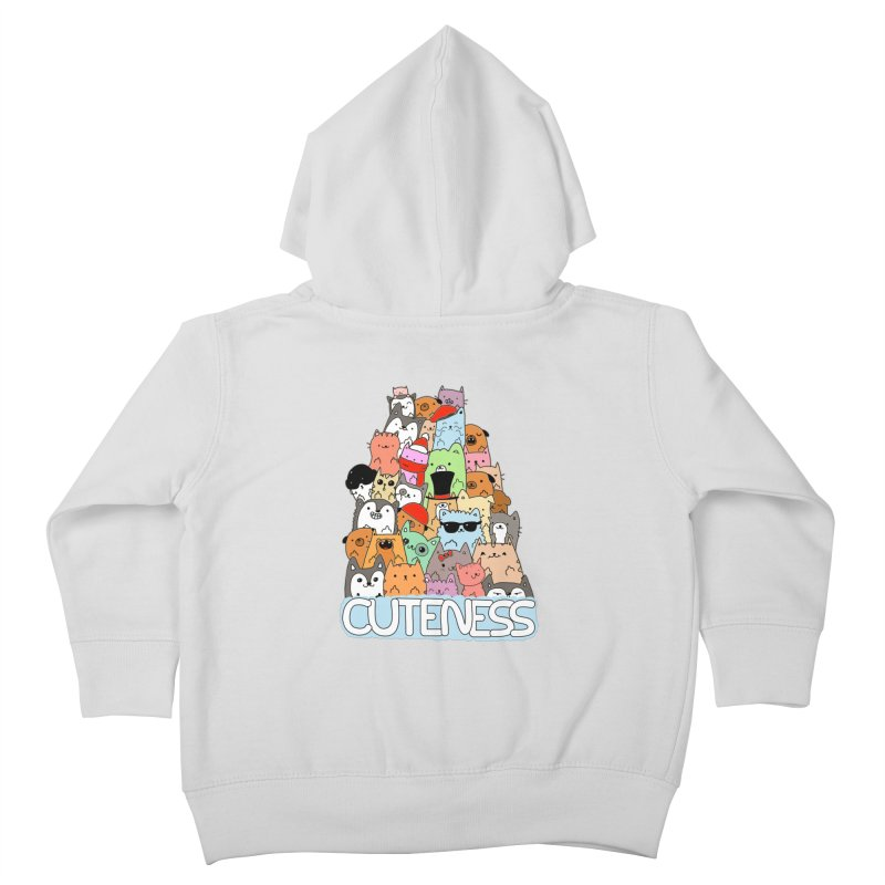 Cuteness Kids Toddler Zip-Up Hoody by oneweirddude's Artist Shop