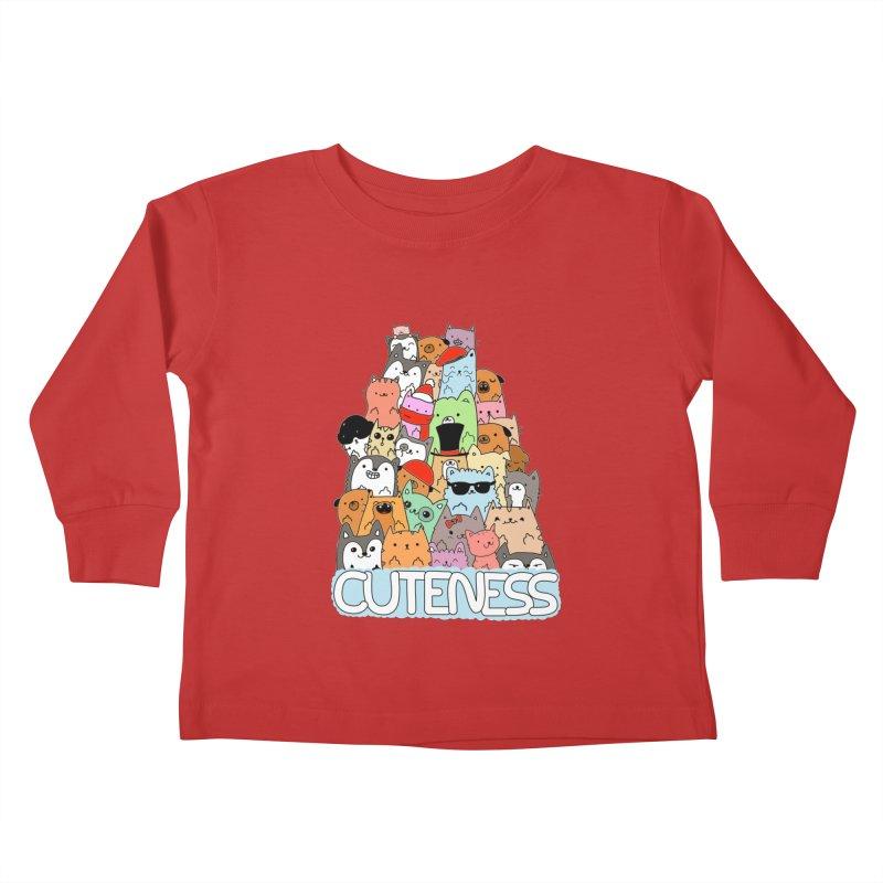 Cuteness Kids Toddler Longsleeve T-Shirt by oneweirddude's Artist Shop