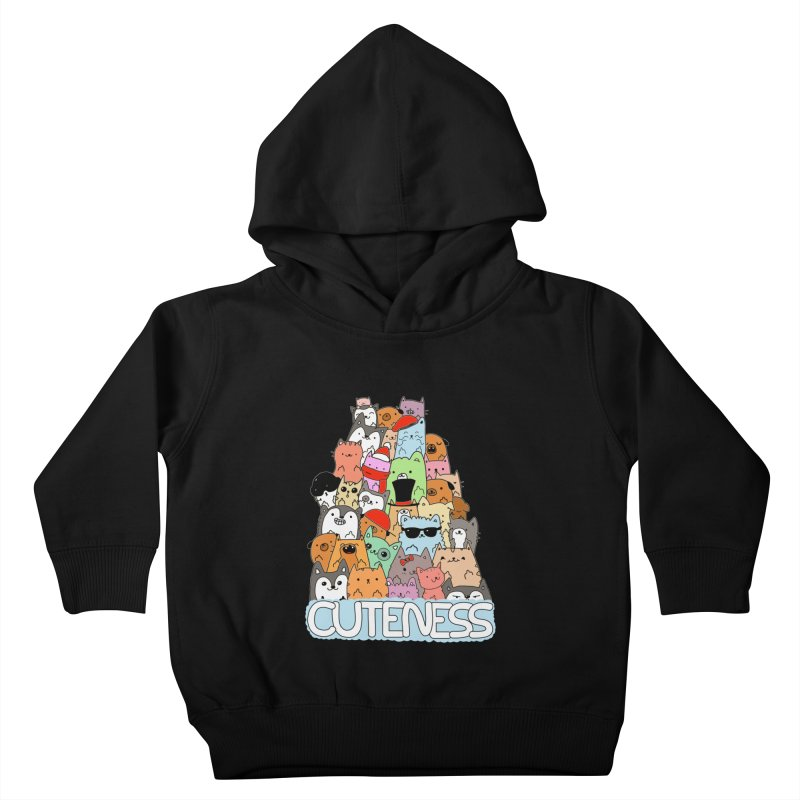 Cuteness Kids Toddler Pullover Hoody by oneweirddude's Artist Shop
