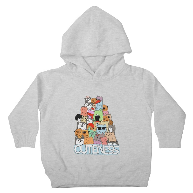 Cuteness Kids Toddler Pullover Hoody by oneweirddude's Artist Shop